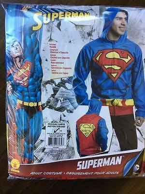 Mens Super Man hoodie, size M, runs more like L, worn once