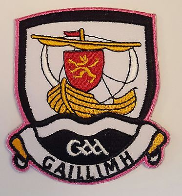 Galway County GAA Hurling Football iron on sew on embroidered patch badge