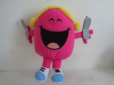 """MR MEN/LITTLE MISS - 9"""" LITTLE MISS CHATTERBOX TALKING SOFT TOY with TELEPHONES"""