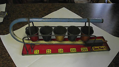 Vintage Skil Pail Tin Game for Marbles, Made in England