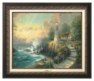 The Light of Peace Thomas Kinkade 16x20 Canvas NEW Giclee Aged Bronze Frame