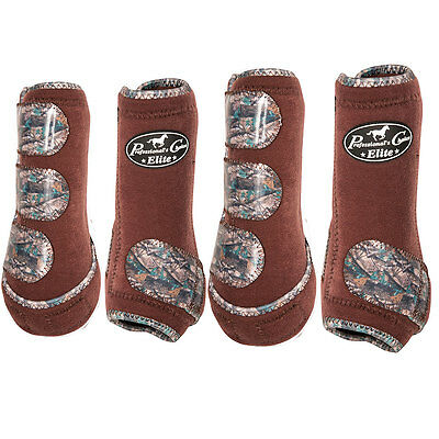 Med Professional Choice Elite Sports Horse Medicine Boots 4 Pack Chocolate Camo