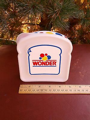 Hostess Reuseable Wonder Bread Lunch Box Sanwich Container ( New Vintage ) .