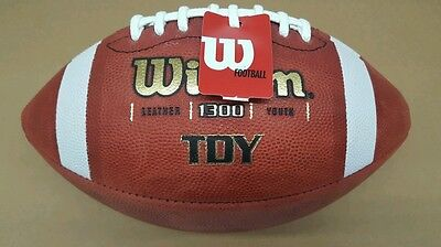 NEW  WILSON TDY Youth Size Leather Football WTF1300 -  34.99  17fc00f494fe