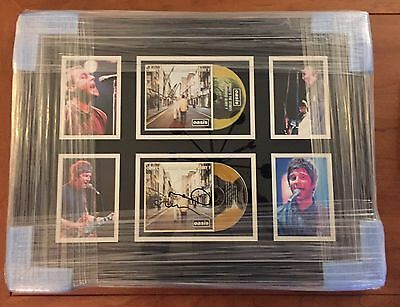 Signed Noel & Liam Gallagher Oasis Display Framed Rare With Proof & Coa