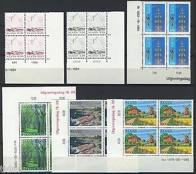 Aland (Åland) 1985, Corner margin block Year set in pristine MNH condition