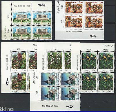 Aland (Åland) 1989, Corner margin block Year set in pristine MNH condition