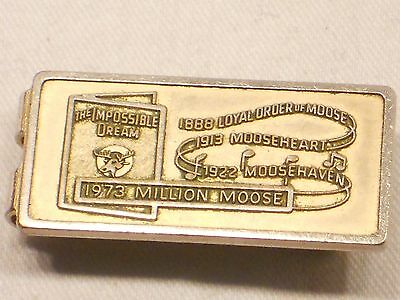 Loyal Order Of The Moose Moneyclip, 1973 Million Moose, The Impossible Dream
