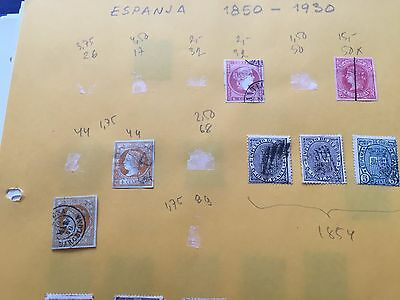 Spain collection on pages in binder from very early to modern, nice stamps