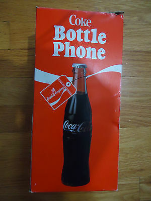 Vintage Coca-Cola Bottle Phone 1983 Coke Telephone Collectible