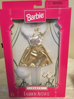 Vintage Barbie Doll Party Fashion Avenue Nrfb From 1998