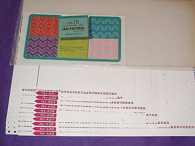 Knitting Machine Accessory's Punch Cards For Standard Gauge Machines Volume..10