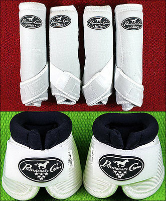 White Large Professional Choice Sports Medicine Horse Boots Bell Ventech Elite