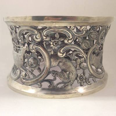 Antique Sterling Silver Dish Ring by Edmund Johnson 1895