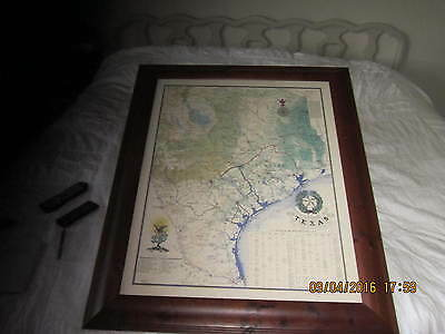 1836 Texas Revolutionary Map  Framed