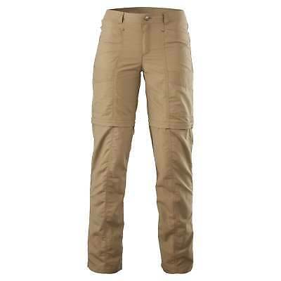 Kathmandu Kanching Womens Zip Off Shorts Regular Fit Trousers Hiking Pants Brown