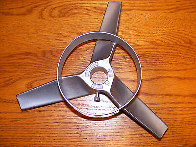 10'' Stainless Steel Mixing Propeller, 3 Blade w/ bottom ring, Stainless, NEW