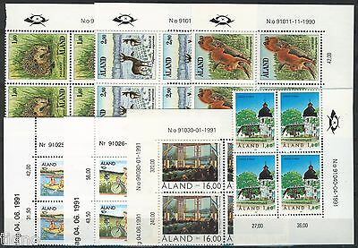 Aland (Åland) 1991, Corner margin block Year set in pristine MNH condition