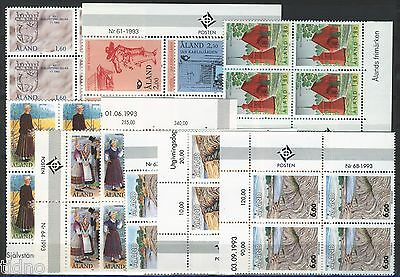Aland (Åland) 1993, Corner margin block Year set in pristine MNH condition