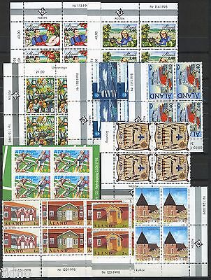 Aland (Åland) 1998, Corner margin block Year set in pristine MNH condition
