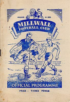 MILLWALL FC v DUNDEE UNITED 12th MAY 1951