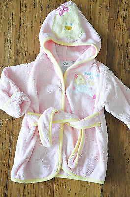 BABIES R US Baby Girls Dressing Gown Fleece Size 0 Excellent