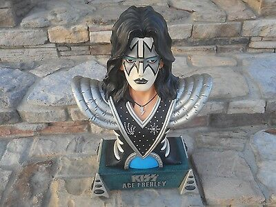 "Rare 1999 Kiss Catalog Ace Frehley Large Bust Statue 20"" Great Condition!"