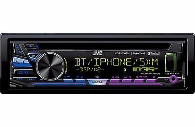JVC 1 Din Car Stereo CD Player Receiver with Bluetooth USB Aux SiriusXM Ready