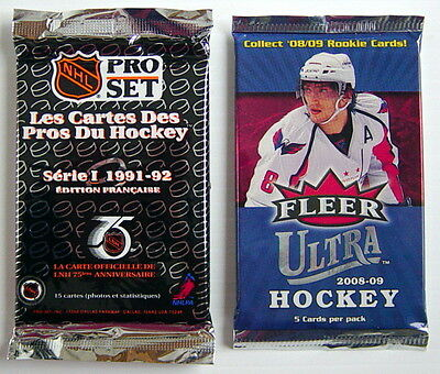 Lot Of Two 1991-2009's Hockey Card, Unopened Packs.