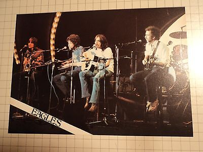 Vintage 1980s Eagles Devo 2 sided Magazine Pin Up Poster Rock and Roll