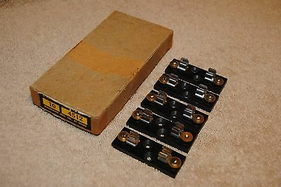5 Vintage Buss Fuse Blocks 4512 with Box Lot
