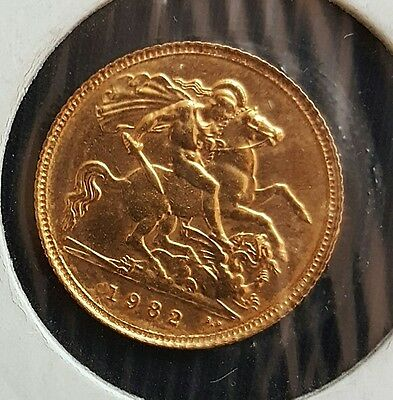 1982 Great Britian Half Sovereign... UNCIRCULATED...