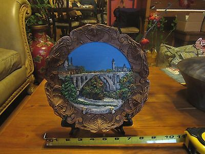 Large Souvenir 3D  relief resin plaque plate Luxembourg
