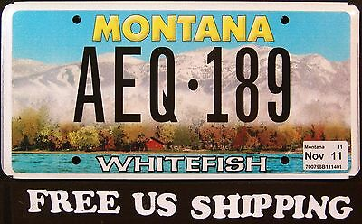 """MONTANA """" WHITEFISH - MOUNTAIN - CABIN """" MT Graphic License Plate FREE US SHIP"""