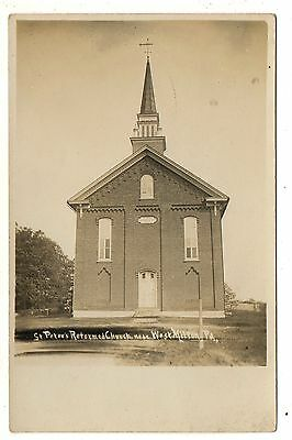RPPC St Peter's Reformed Church WEST MILTON PA Real Photo Postcard