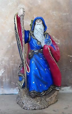 Vintage RARE 1986 Windstone Editions Large Wizard Sculpture Signed M. Pena