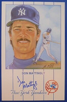 DON MATTINGLY New York Yankees LA Dodgers signed Susan Rini Postcard