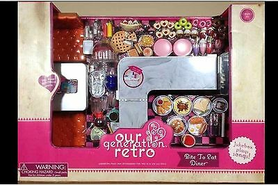 """New Our Generation Retro Bite To Eat Diner, 18"""" Dolls, American Girl"""