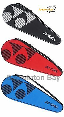 Yonex Padded Badminton Racket Cover SUNR-120L with Zip ( Blue , Red , Black )