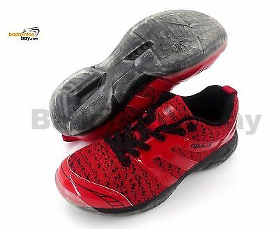 Apacs Cushion Power 072 Red Badminton Shoes With Transparent Outsole and Improve