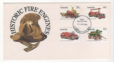 1983 Australia HISTORIC FIRE ENGINES First Day Cover FDC 12/1/83 T