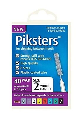 Piksters 0.55 mm Size 2 White Interdental Brush - Pack of 40. Shipping is Free