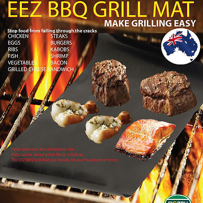 2pcs Reusable Non-stick Surface BBQ Grill Mat Baking Easy Clean Grilling NEW GX