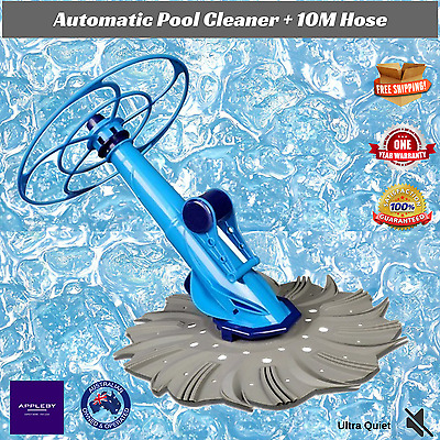 Swimming Pool Cleaner Automatic Adjustable Suction In Above Ground 10m Hose
