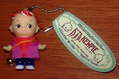 Kewpie Doll Red Costume wth very little bell 2 inch Vinyl OIKE Mascot Key Chain