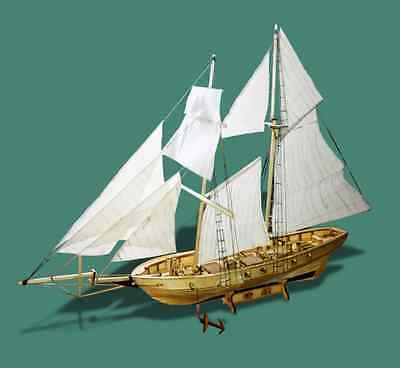 Hobby ship model kits Scale 1:130 HARVEY 1847 sailboat wooden model