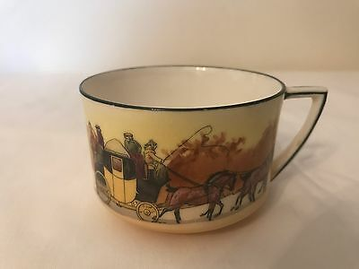 Royal Doulton Coaching Days Coffee Cup {Rare)