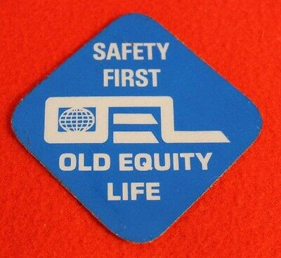 Safety First Old Equity Life Coal Miner Decal