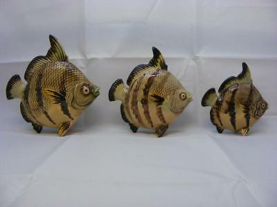 Set of Three Vintage Fish Wall Ornaments