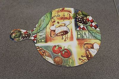 Melamine Chopping Board (with Handle) for Camping/Caravanning/Picnics